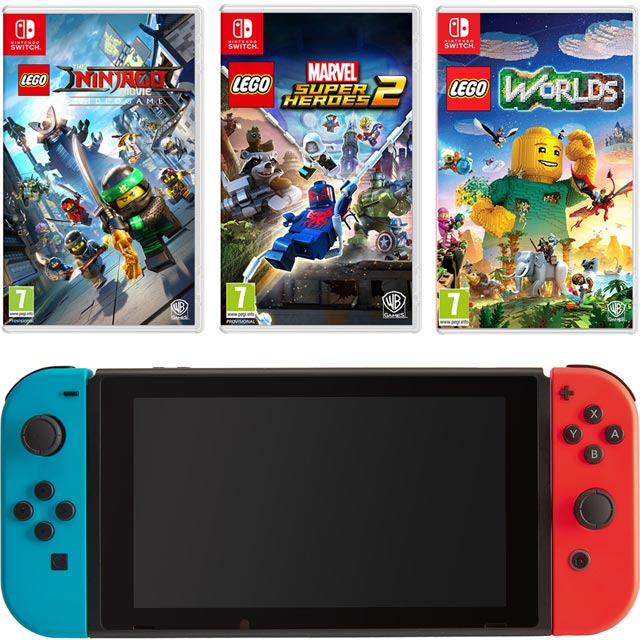 Nintendo Games NSHEHWCST54333 Nintendo Switch in Red / Blue