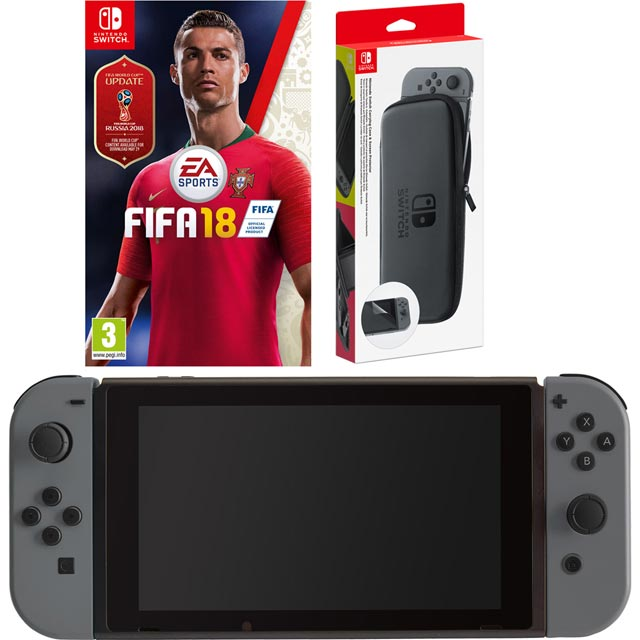 Nintendo Switch 32GB with Fifa 18 (cartridge) Bundle - Grey