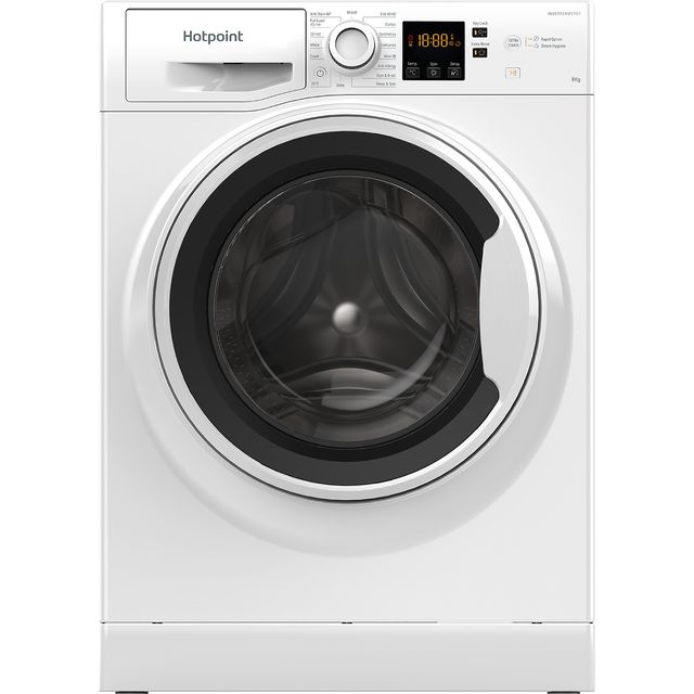 Hotpoint NSWA843CWWUKN 8Kg Washing Machine with 1400 rpm - White - A+++ Rated - NSWA843CWWUKN_WH - 1