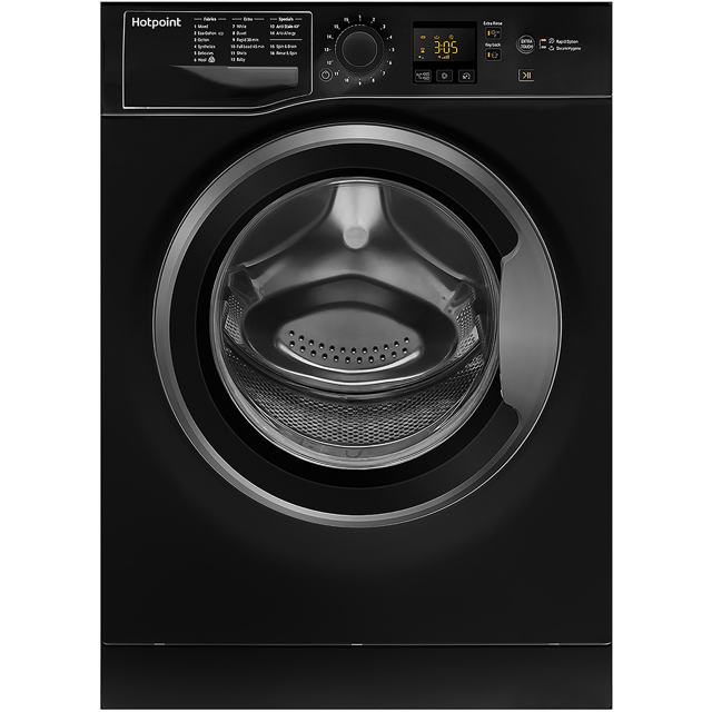 Hotpoint NSWM1043CBSUK 10Kg Washing Machine with 1400 rpm - Black - A+++ Rated - NSWM1043CBSUK_BK - 1