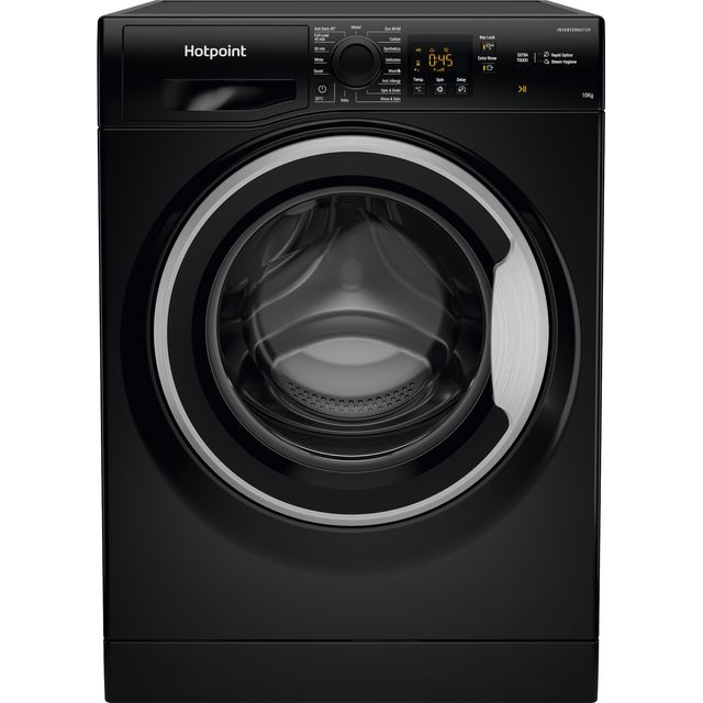 Hotpoint NSWM1043CBSUKN 10Kg Washing Machine with 1400 rpm - Black - A+++ Rated