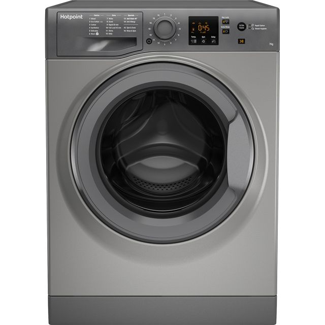 Hotpoint NSWM743UGGUK 7Kg Washing Machine with 1400 rpm - Graphite - A+++ Rated - NSWM743UGGUK_GH - 1