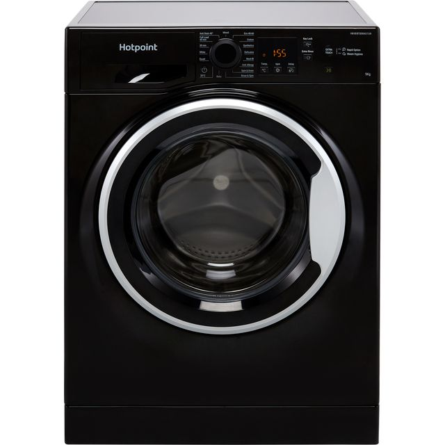 Hotpoint NSWM943CBSUKN 9Kg Washing Machine with 1400 rpm - Black - D Rated