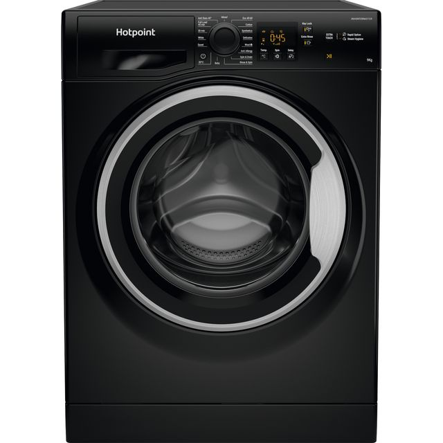 Hotpoint NSWM943CBSUKN 9Kg Washing Machine - Black - NSWM943CBSUKN_BK - 1