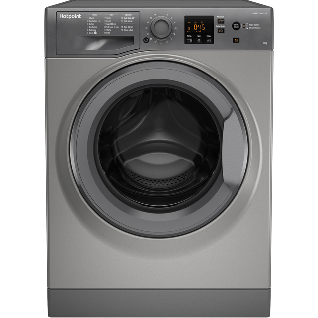 Hotpoint NSWM943CGGUK 9Kg Washing Machine with 1400 rpm - Graphite - A+++ Rated - NSWM943CGGUK_GH - 1