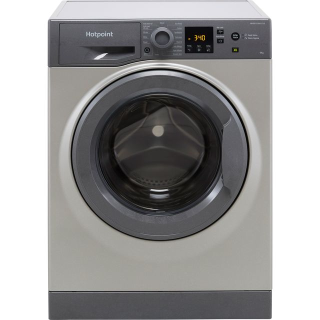 Hotpoint NSWM943CGGUKN 9Kg Washing Machine with 1400 rpm - Graphite - D Rated