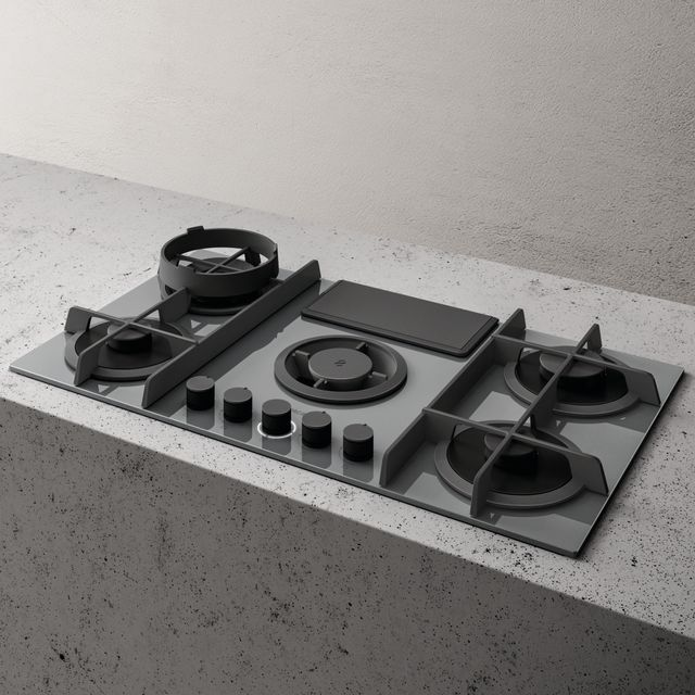 Elica NT-FLAME GG DO Built In Gas Hob - Grey - NT-FLAME GG DO_GY - 1