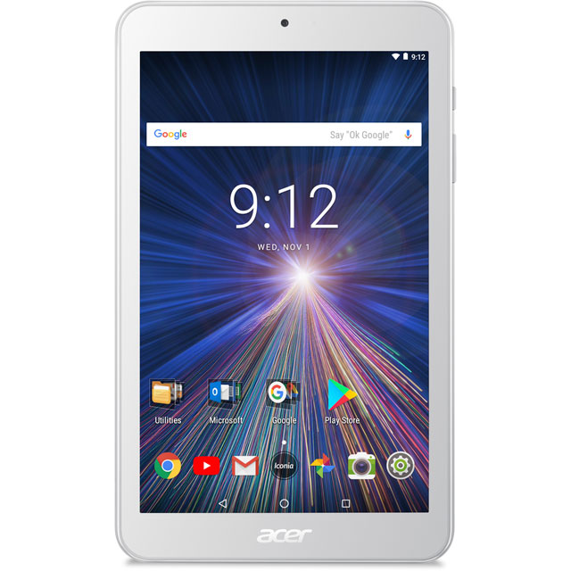 "Acer Iconia One 8"" 16GB Wifi Tablet - White - NT.LEREK.001 - 1"