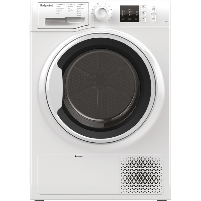Hotpoint NTM1081WKUK 8Kg Heat Pump Tumble Dryer - White - A+ Rated - NTM1081WKUK_WH - 1