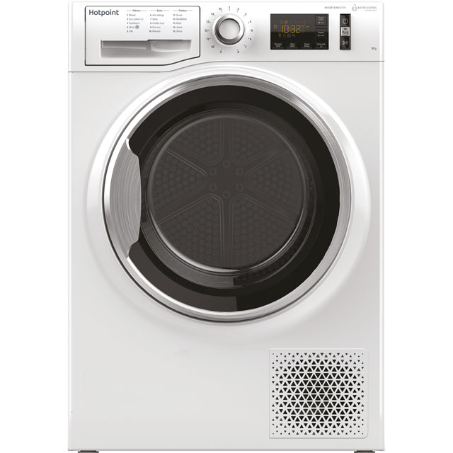 Hotpoint Active Care NTM1192XBYUK 9Kg Heat Pump Tumble Dryer - White