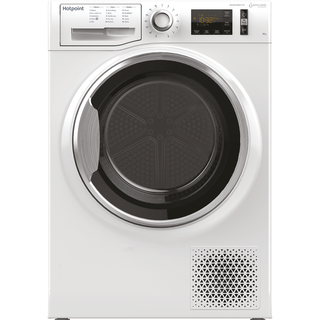 Hotpoint Active Care NTM1192XBYUK 9Kg Heat Pump Tumble Dryer - White - A++ Rated - NTM1192XBYUK_WH - 1
