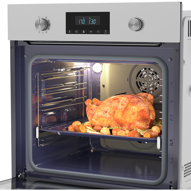 Samsung Dual Fan NV70K2340RS Built In Electric Single Oven - Stainless Steel - NV70K2340RS_SS - 3