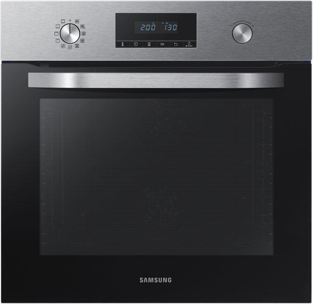 Samsung Dual Fan NV70K3370BS Built In Electric Single Oven - Stainless Steel - A Rated