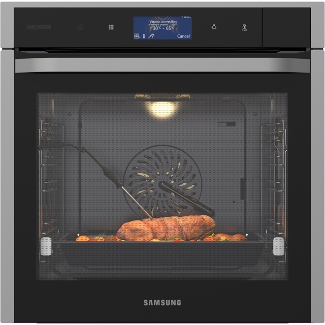 Samsung Chef Collection NV73J9770RS Wifi Connected Built In Electric Single Oven with added Steam Function - Black / Stainless Steel - A+ Rated - NV73J9770RS_BKS - 1