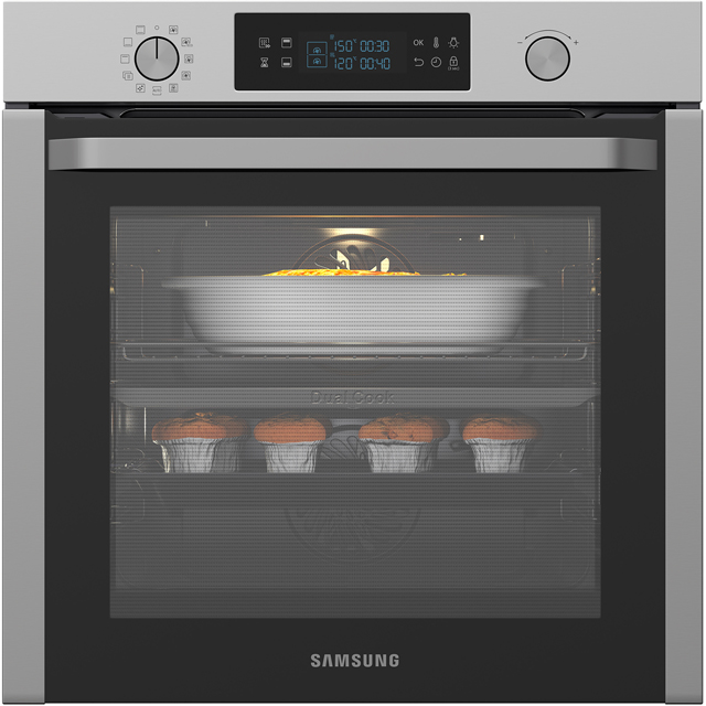 Samsung Dual Cook NV75K5571RS Integrated Single Oven in Stainless Steel