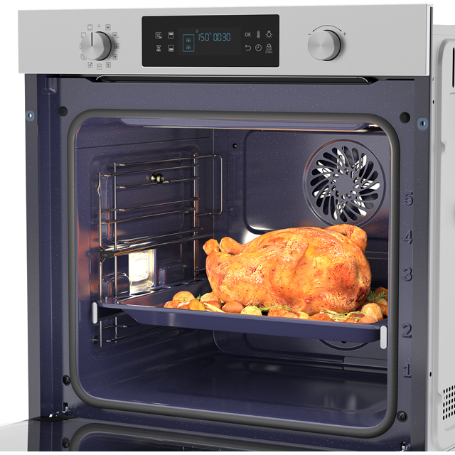 Samsung Dual Cook NV75K5571RS Built In Electric Single Oven - Stainless Steel - NV75K5571RS_SS - 3