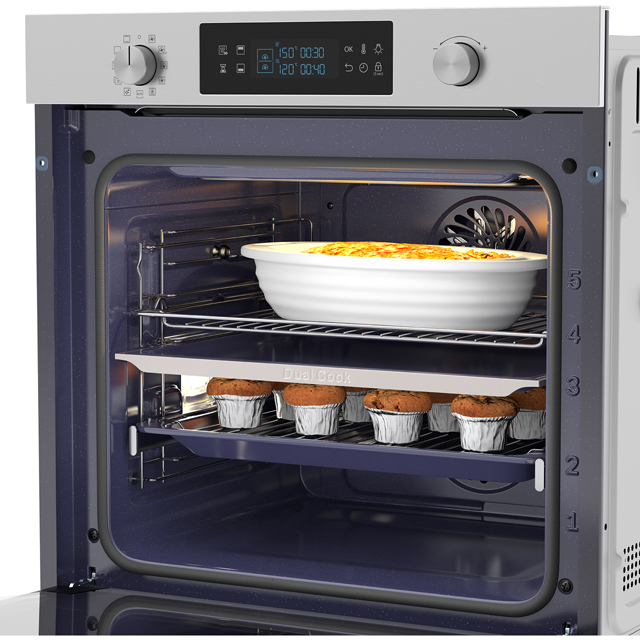 Samsung Dual Cook NV75K5571RS Built In Electric Single Oven - Stainless Steel - NV75K5571RS_SS - 4