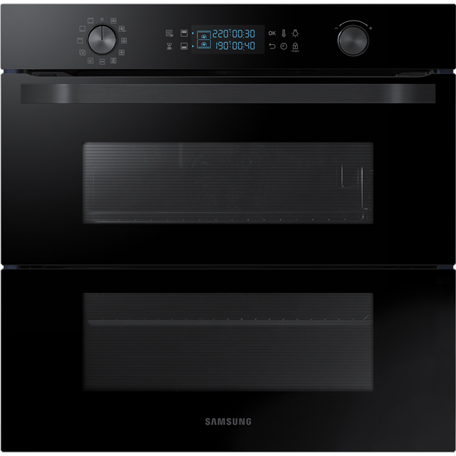 Samsung Prezio Dual Cook Flex NV75N5641RB Built In Electric Single Oven - Black Glass - A+ Rated - NV75N5641RB_BKG - 1