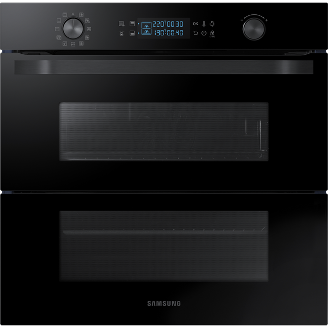 Samsung Prezio Dual Cook Flex NV75N5641RB Built In Electric Single Oven - Black Glass - NV75N5641RB_BKG - 1