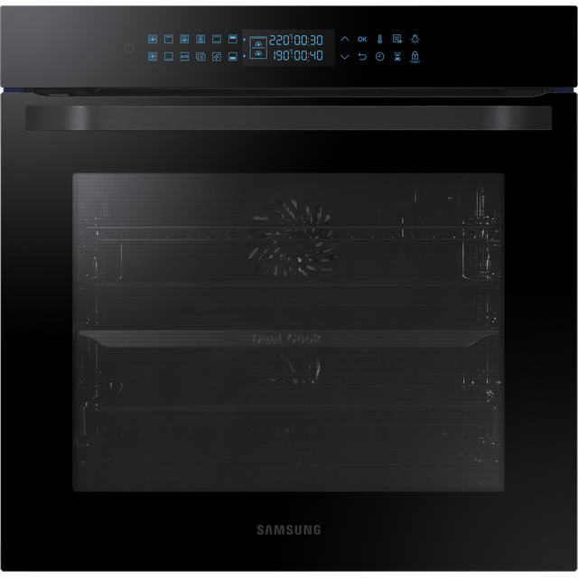 Samsung Prezio Dual Cook NV75R7546RB Built In Electric Single Oven - Black Glass - A Rated
