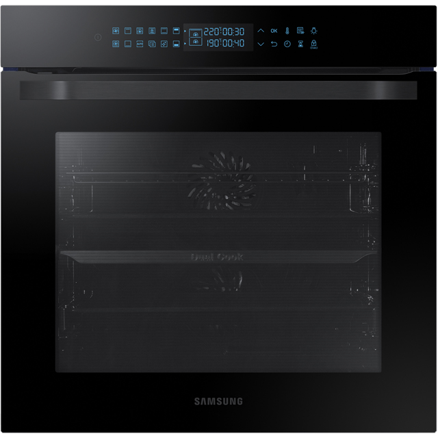 Samsung Prezio Dual Cook NV75R7576RB Built In Electric Single Oven - Black Glass - A Rated - NV75R7576RB_BKG - 1