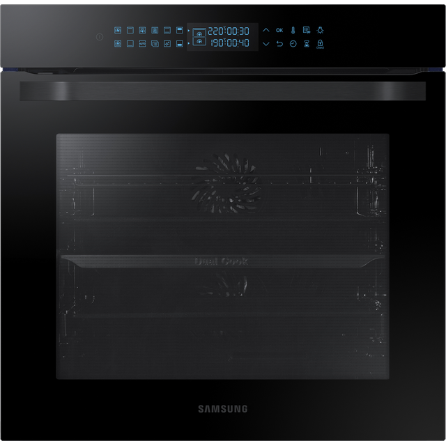 Samsung Prezio Dual Cook NV75R7576RB Built In Electric Single Oven - Black Glass - NV75R7576RB_BKG - 1
