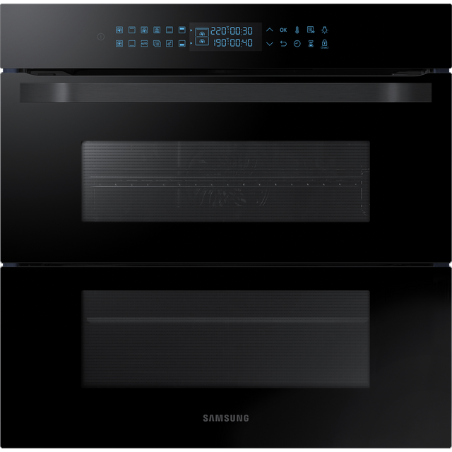 Samsung Prezio Dual Cook Flex NV75R7646RB Built In Electric Single Oven - Black Glass - NV75R7646RB_BKG - 1