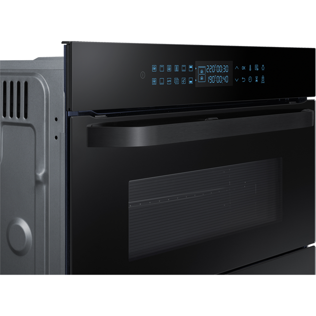 Samsung Prezio Dual Cook Flex NV75R7646RB Built In Electric Single Oven - Black Glass - NV75R7646RB_BKG - 2