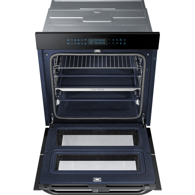 Samsung Prezio Dual Cook Flex NV75R7646RB Built In Electric Single Oven - Black Glass - NV75R7646RB_BKG - 3