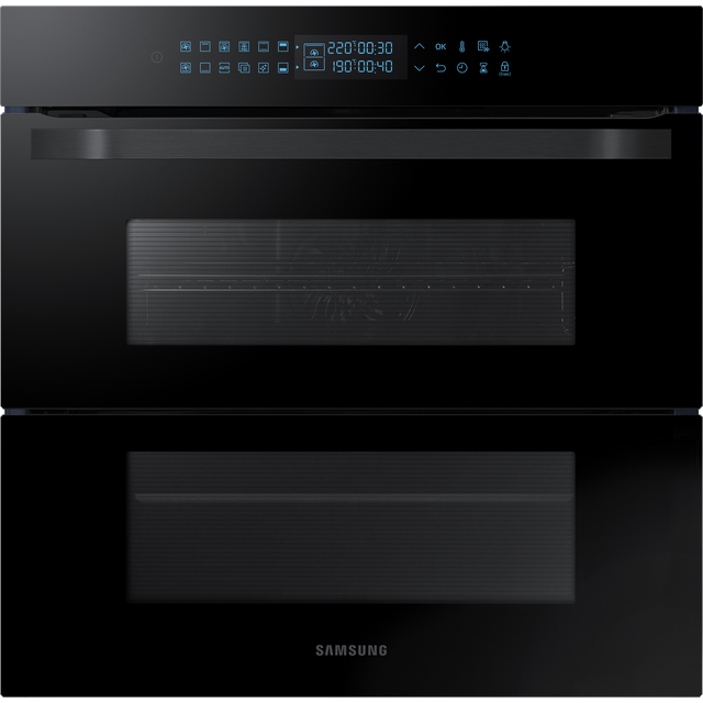 Samsung Prezio Dual Cook Flex NV75R7676RB Built In Electric Single Oven - Black Glass - NV75R7676RB_BKG - 1