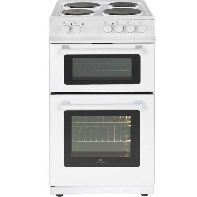 Newworld NW50ET 50cm Electric Cooker with Solid Plate Hob - White - A Rated - NW50ET_WH - 1
