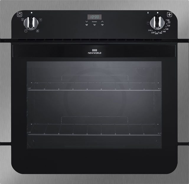 Newworld NW601FP Built In Electric Single Oven - Stainless Steel - A Rated - NW601FP_SS - 1