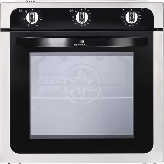 Newworld NW602F Built In Electric Single Oven - Stainless Steel - A Rated - NW602F_SS - 1
