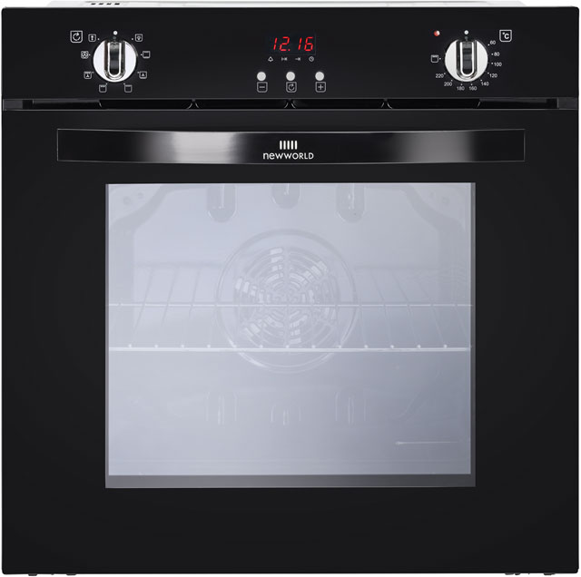 Newworld NW602MF Built In Electric Single Oven - Black - A Rated - NW602MF_BK - 1