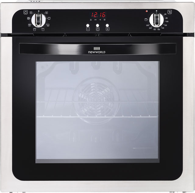 Newworld NW602MF Built In Electric Single Oven - Stainless Steel - A Rated - NW602MF_SS - 1