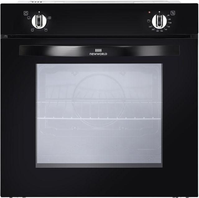 newworld logo newworld nw602v built in electric single oven black