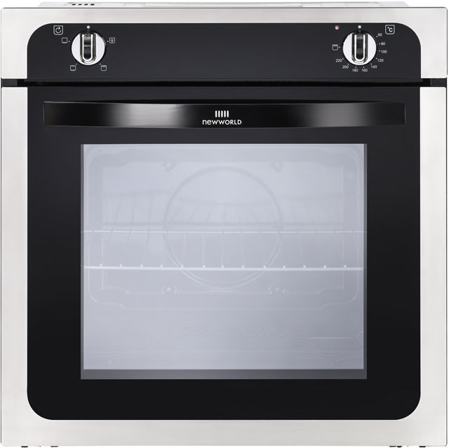 Newworld NW602V Built In Electric Single Oven - Stainless Steel - A Rated - NW602V_SS - 1