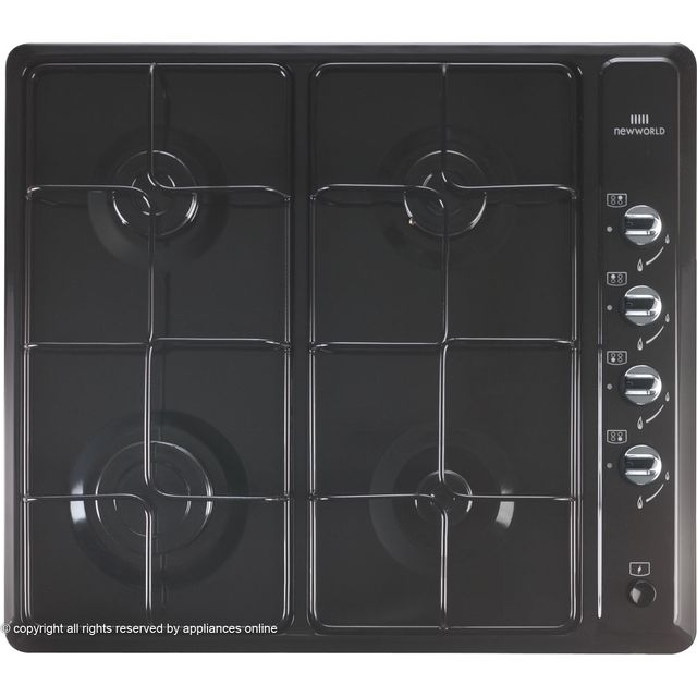 Newworld NWGHU601 Built In Gas Hob - Black - NWGHU601_BK - 1