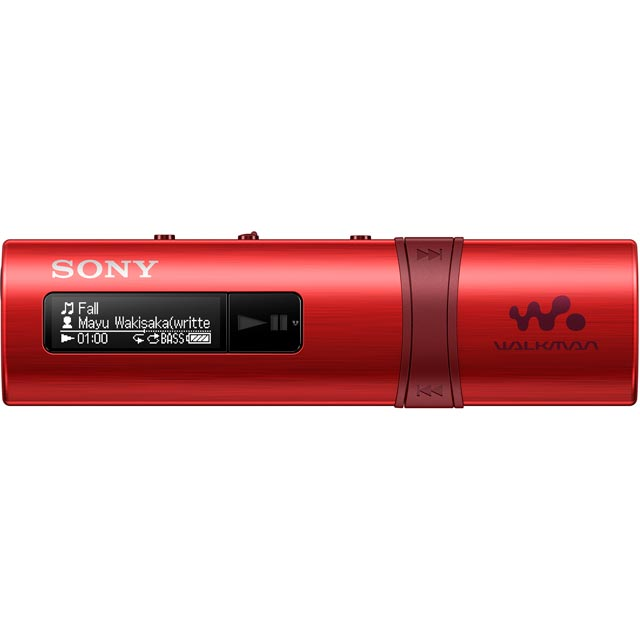 Sony NWZ-B183 Walkman With Built-In USB - Red - NWZB183R.CEW - 1