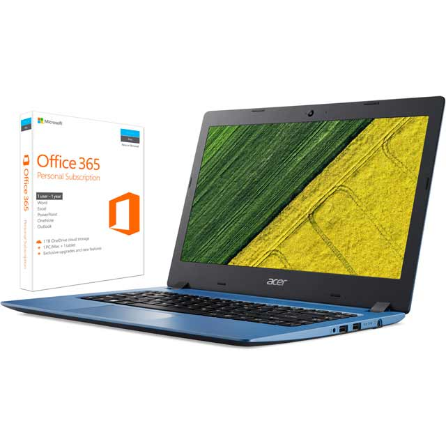 "Acer Aspire 1 14"" Laptop Includes Office 365 Personal 1-year subscription with 1TB Cloud Storage - Blue"