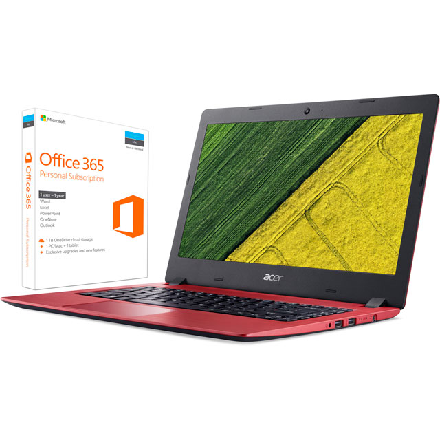 "Acer 14"" Laptop Intel® Celeron® 4GB RAM - Red"