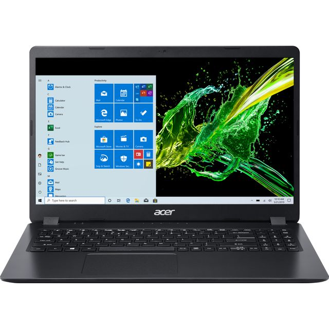 "Acer Aspire 3 A315-56 15.6"" Laptop - Black"