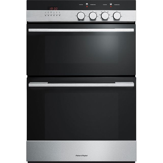 Fisher & Paykel OB60BCEX4 Built In Double Oven - Stainless Steel - A/A Rated - OB60BCEX4_SS - 1