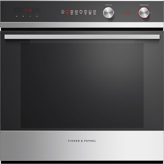 Fisher & Paykel OB60SD7PX1 Built In Electric Single Oven - Stainless Steel - A Rated - OB60SD7PX1_SS - 1