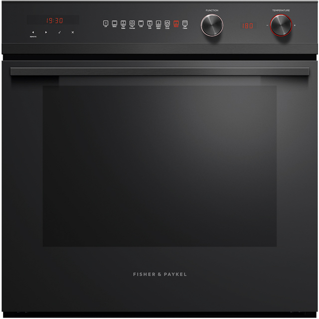 Fisher & Paykel Designer OB60SD9PB1 Built In Electric Single Oven - Black Steel - A+ Rated