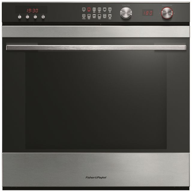 Fisher & Paykel OB60SL11DCPX1 Built In Electric Single Oven - Black - A Rated - OB60SL11DCPX1_BK - 1