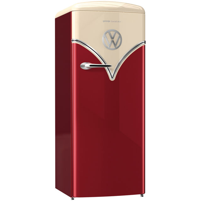 Gorenje Retro Special Edition OBRB153R Fridge - Burgundy - A+++ Rated - OBRB153R_BUR - 1