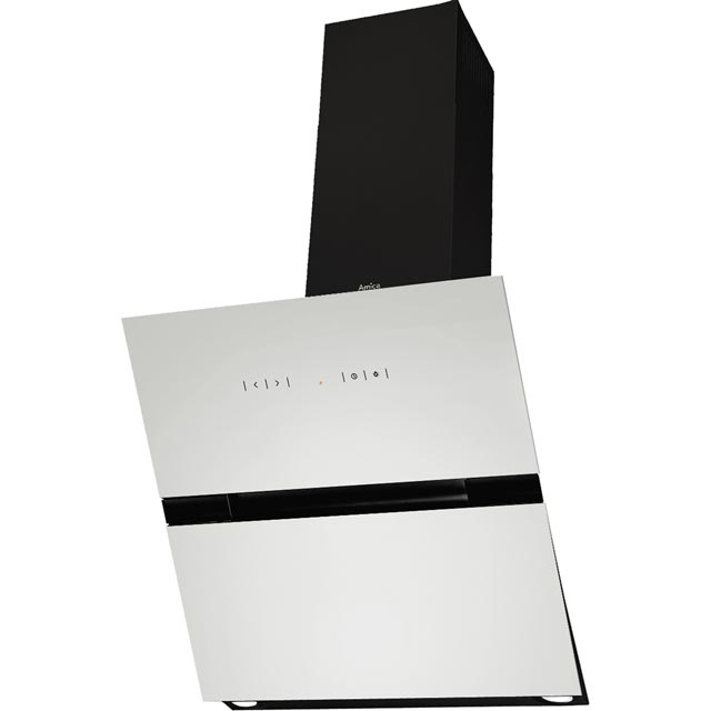 Amica OKC653SWUK 60 cm Chimney Cooker Hood - White