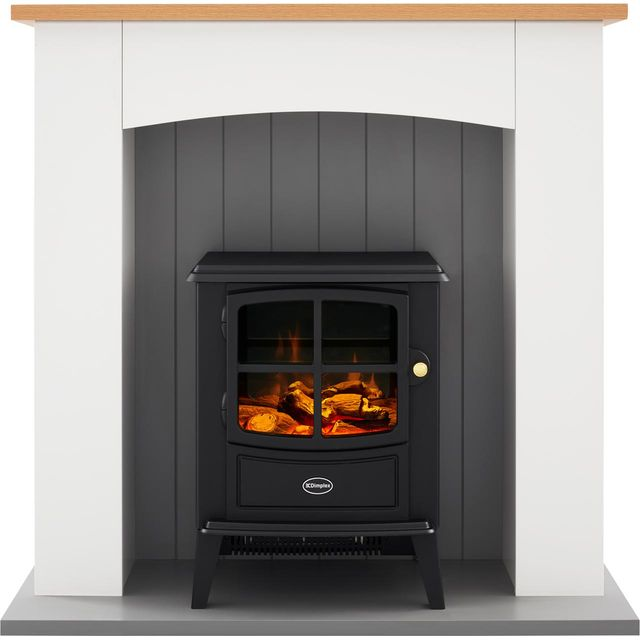 Dimplex Oakmead OKM20 Log Effect Suite And Surround Fireplace - Ivory White