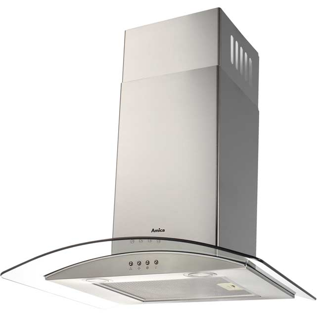 Amica OKP631G 60 cm Chimney Cooker Hood - Stainless Steel